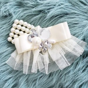 Pearls & Ribbons Statement Bracelet